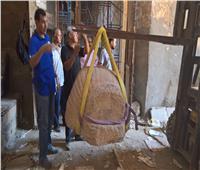 المتحف المصري الكبير يستقبل رأس تمثال للملك «سنوسرت الأول»| صور