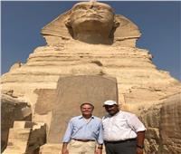 صور| جولة وزير خارجية إيطاليا في الأهرامات والمتحف المصري الكبير