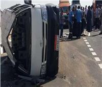 إصابة 7 أشخاص إثر انقلاب ميكروباص بطريق إسكندرية الصحراوي