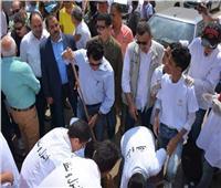 أشرف صبحي وعادل الغضبان يطلقان حملة «شارك ونضف» ببورسعيد
