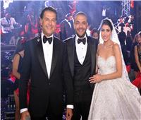 صور| راغب علامة وتامر حسني يُشعلان زفاف «أحمد ورنا»