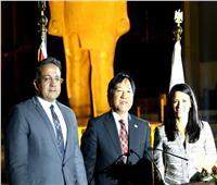 وزيرا السياحة والآثار في حفل توديع السفير الياباني بالمتحف الكبير