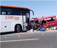 شاهد| الصور الأولى لحادث تصادم بطريق مرسى علم
