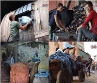 «مدابغ مجرى العيون»| رحلة الجلود من «الأضاحي» إلى ملابس وأحذية الزبائن