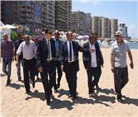 محافظ الإسكندرية يتفقد الشواطئ المجانية للتأكد من استعدادات العيد