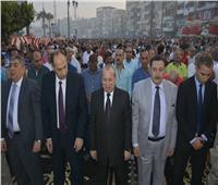 الآلاف يؤدون صلاة العيد في 64 ساحة بدمياط