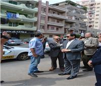 جولة مفاجئة لمحافظ الغربية لتفقد أعمال النظافة بمدينة طنطا