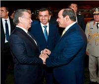 الرئيس السيسي يصل أوزباكستان ثالث محطات جولته الخارجية