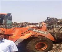 رفع 300 طن من مخلفات مصنع السماد العضوي بسوهاج