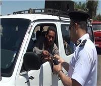 ضبط 6564 مخالفة مرورية في حملة بالجيزة