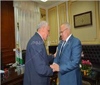 محافظ الجيزة يستقبل رئيس جامعة القاهرة لتقديم التهنئة