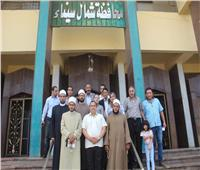 صور  قافلة الأزهر لشمال سيناء تختتم أعمالها بتوزيع ٢٠٠٠ عبوة غذائية