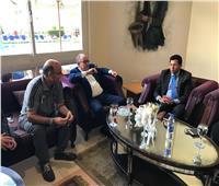 وزير الرياضة يقف على آخر المستجدات قبل مباراة مصر والنيجر