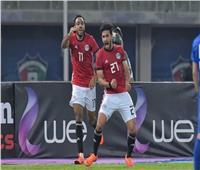 أيمن أشرف يسجل الهدف الثاني لمنتخب مصر في مرمى النيجر