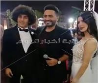 شاهد| تامر حسني يحيي حفل زفاف حسين السيد
