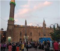 صور| الحسين يتزين بالإضاءات احتفالا بالعام الهجري الجديد