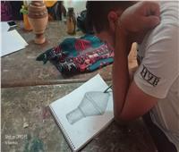 صور| تنظيم ورش فنية وأنشطة متنوعة بثقافة المنيا