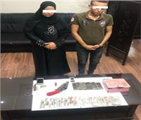 ضبط 3 أشخاص بحوزتهم أسلحة نارية و500 جرام حشيش بشبرا الخيمة