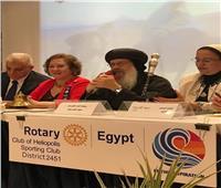 كواليس تدشين أيقونة رحلة «العائلة المقدسة» في روتاري مصر الجديدة