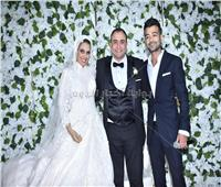 صور.. هيثم شاكر ومحمد رشاد يحيان زفاف محمد وسمية