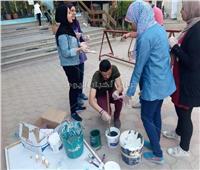 صور| كلية إعلام جامعة القاهرة تستعد للعام الدراسي الجديد