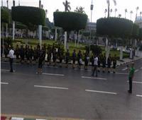 موسيقى الشرطة تشارك طلاب جامعة القاهرة الأحتفال ببدء العام الدراسى