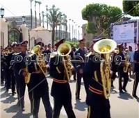 بدء استعدادات جامعة  القاهرة لافتتاح العام الدراسي الجديد بأداء تحية العلم
