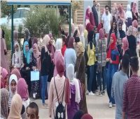 4 كليات بجامعة بنها تستقبل طلابها بتحية العلم فى أول يوم دراسي