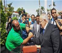 """رئيس جامعة القاهرة يهزم مدرب """"الريست"""" بحفل استقبال الطلاب الجدد"""