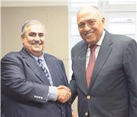 شكري يلتقي نظيره البحريني على هامش أعمال الجمعية العامة للأمم المتحدة بنيويورك