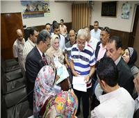 محافظ المنوفية وفد التحالف المدني لحقوق الإنسان