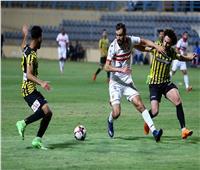 الشوط الأول| الزمالك والمقاولون العرب يتعادلان ١ - ١