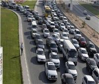 فيديو| كثافات مرورية عالية على كافة المحاور الرئيسية بالقاهرة