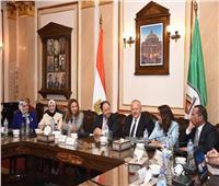 صور| رئيس جامعة القاهرة يستقبل وزير المالية ومحافظ دمياط