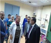 مدير مستشفيات القناة تستقبل طلاب حادث الكيلو 11