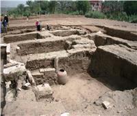 صور| اكتشاف مبنى أثري ضخم بـ«حوض الدمرداش» في ميت رهينة