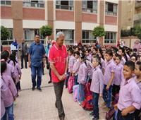 محافظ المنوفية يتفقد مدرسة «عبدالرحمن الديب» بشبين الكوم