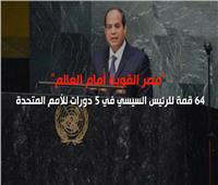 فيديوجراف| 64 قمة للرئيس السيسي في 5 دورات للأمم المتحدة
