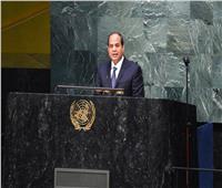 فيديو| السيسي يطالب باستراتيجية دولية لمكافحة الإرهاب والتعامل مع مموليه