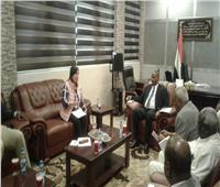 محرز تبحث سبل التعاون مع السودان وتتفقد المشروعات المصرية بالخرطوم