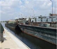 «هويس البستان» يشهد مرور «أسطول سلع» ضخم إلى الإسكندرية