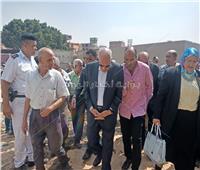 جولة تفقدية لمحافظ الجيزة بمدينة منشأه القناطر