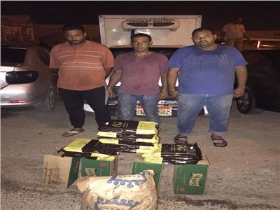 ضبط متهمين بسرقة مخزن مواد غذائية بالقطامية