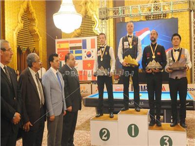 صور | ختام مشرف لبطولة العالم للبليارد على أرض الأهرامات