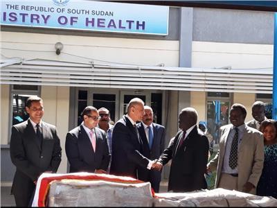 مصر تهدي الأشقاء في جنوب السودان شحنة مساعدات دوائية