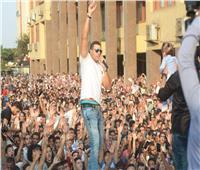 محمد نور وكريم محسن ومحمد رشاد يشعلون حفلا في تجارة عين شمس