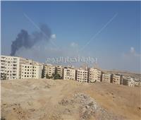 صور| حريق هائل داخل مخزن حي الهرم