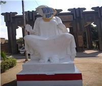 «عبد الدايم» تشكل لجنة لاستعادة جمال تمثال الفلاحة المصرية بالهرم