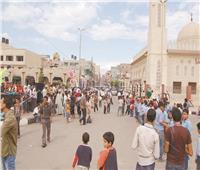 صور| أهالى شمال سيناء يشكرون الجيش والشرطة على عودة الأمن والأمان