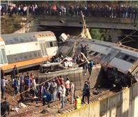 صور  مقتل 4 وإصابة العشرات في حادث قطار بالمغرب
